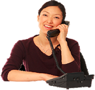 Photo of a smiling woman, Mira, on the phone.