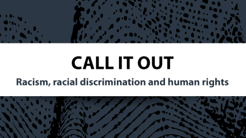 Call it out: Racism, racial discrimination and human rights