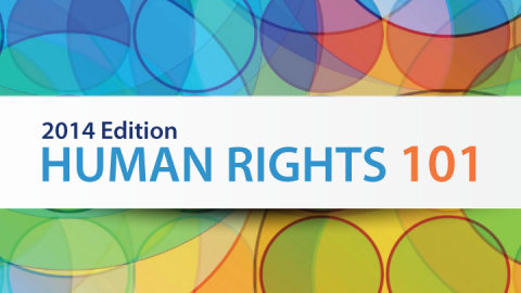 Cover photo. Links to Human Rights 101 (2014 ed.)