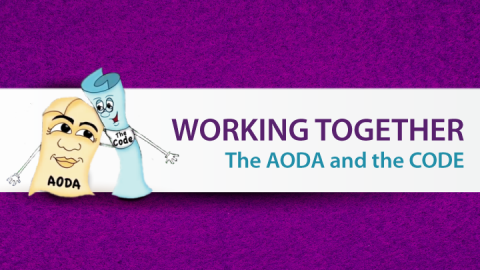 Cover photo. Links to Working Together: The Code and the AODA