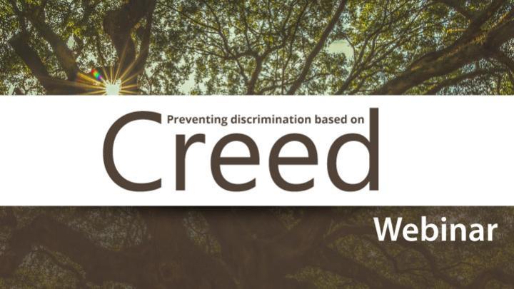 Preventing discrimination based on creed webinar