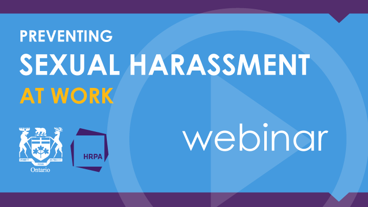 Preventing sexual harassment at work