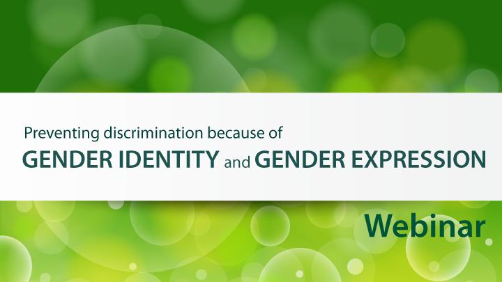 Gender Identity and Expression Webinar